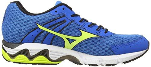 MizunoWave Inspire 11 - Zapatillas de running hombre Azul (directoire blue/lime punch)