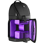 Neewer Professional Sling Camera Storage Bag Durable Waterproof and Tear Proof Black Carrying Backpack Case for DSLR…