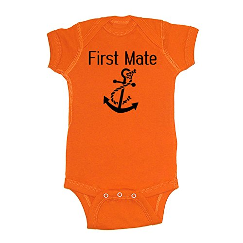 we-match-unisex-baby-first-mate-matches-the-captain-first-mate-set-bodysuit-orange-24-months