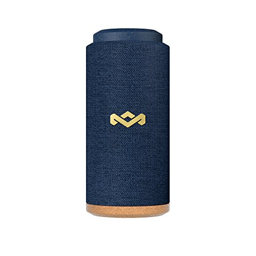 House of Marley, No Bounds Sport, Outdoor Speaker 12-Hour Battery Life, Water & Dust-Proof , IP67 Buoyant, Quick Charge, Wireless Dual Speaker Pairing, Aux-In, Carabiner Clip for Travel Blue (House Of Marley Get Together Portable Bluetooth Speaker)