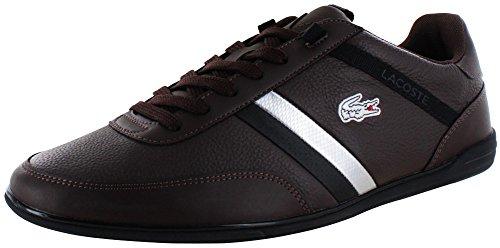 Lacoste Giron Mens Mode Domstol Gymnastikskor Läder Mörkbrun / Svart