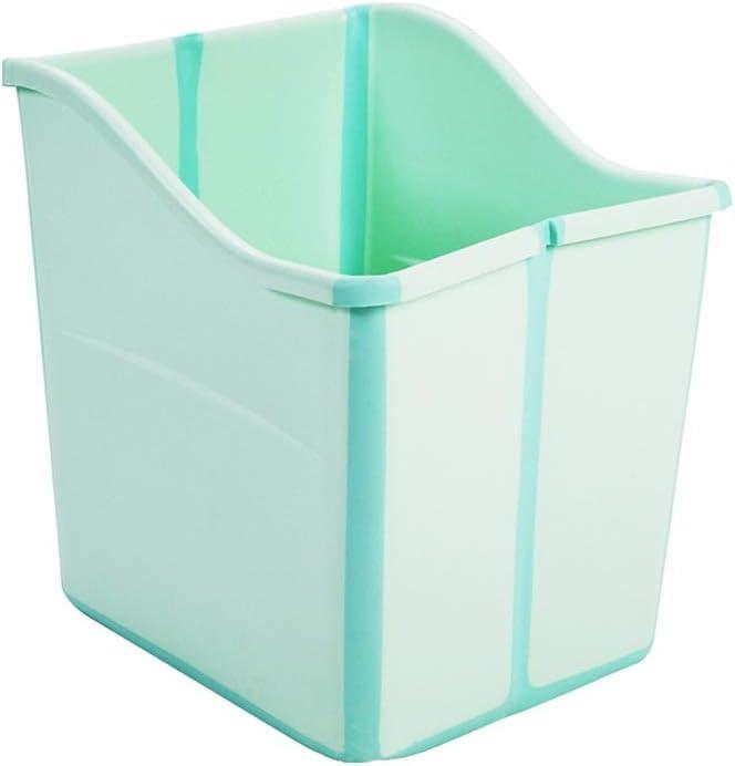 bañera honda profunda para animales, se puede doblar, de color verde