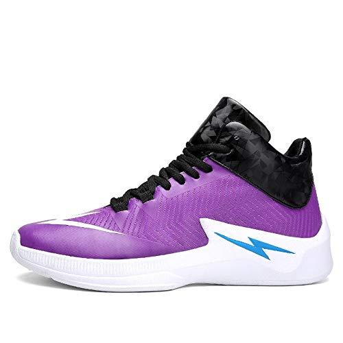 Baskets D'automne Basketball De 40 Hommes Portables Les Chaussures purple Tout Maylen La Chocs Absorbant Pour aller Hughes Mode Antidérapantes Et wqIxXB