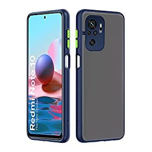 Pikkme Redmi Note 10 / Redmi Note 10s Smoked Cover Protective Shockproof Matte Hard Back Case Cover for Redmi Note 10…
