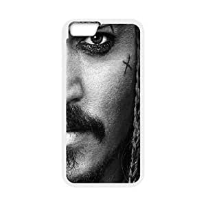 IPhone 6 Case, Elegant CAPTAIN Jack Sparrow. Johnny Depp Case for IPhone 6 {White}