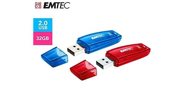 Emtec USB 2.0 C410 32GB Pack 2: Amazon.es: Electrónica
