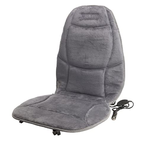 Wagan IN9438-2 12V Heated Seat Cushion with Lumbar Support (Gray Velour)