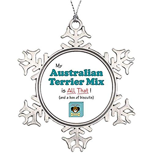 Diuangfoong Tree Branch Decoration My Australian Terrier Mix is All T! Halloween Snowflake Ornaments Australian Terrier Mix ()