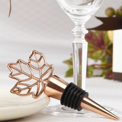 (Fall ''Lustrous Leaf'' Bottle Stopper [Set of 10] )