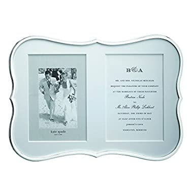 kate spade new york Crown Point 5  x 7  Invitation Silver Plated Frame