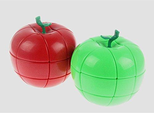 QTMY Plastic Irregular Green Apple Speed Magic Cube Puzzle