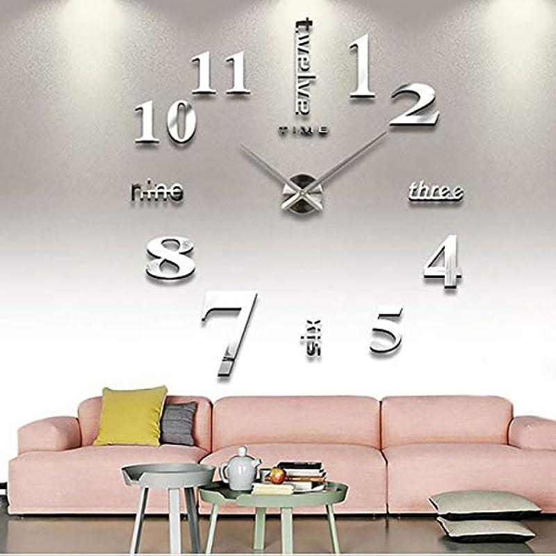 Yiteng 3D DIY 수작업 clock 벽시계벽 시계 wall clock wall 스티커 로마숫자와 영어 인테리어 심플 멋쟁이 프리 배치은
