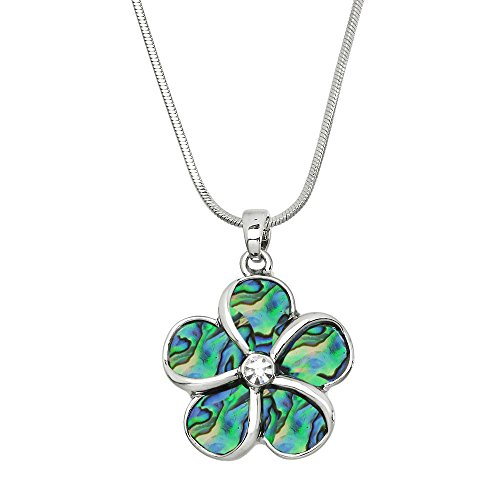 Falari Flower Pendant Necklace Abalone Shell High