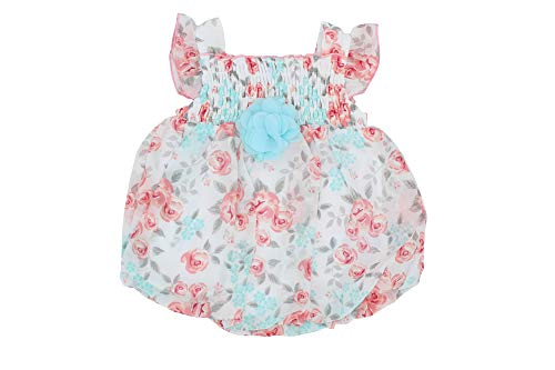 Bon bébé Baby Girl Chiffon Romper (6-9 Months)