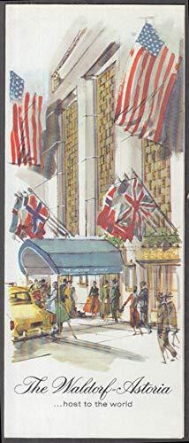 The Waldorf-Astoria Hotel visitor folder New York City 1950s