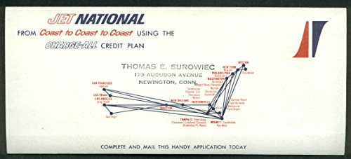 National Airlines Charge-All airline Credit Card Application mailer 1960s