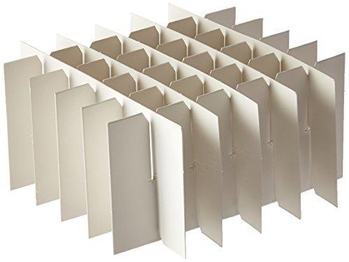 Heathrow Scientific HS2860T True North Tube - Caja de almacenaje de cartón con separador, 36 tubos de 15 ml, color blanco...