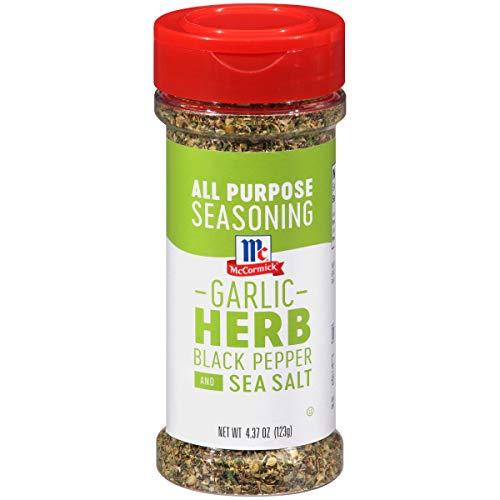 - McCormick Garlic Herb Black Pepper And Sea Salt All Purpose Seasoning, 4.37 oz
