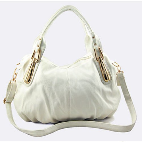 Hobo Shoulder Handbag (White), Bags Central