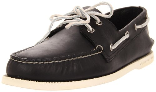 Sperry Men's A/O 2 Eye Boat Shoe,Black,10 M - Sewn Loafer Hand