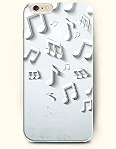 For Ipod Touch 5 Case Cover Case - White Music Note