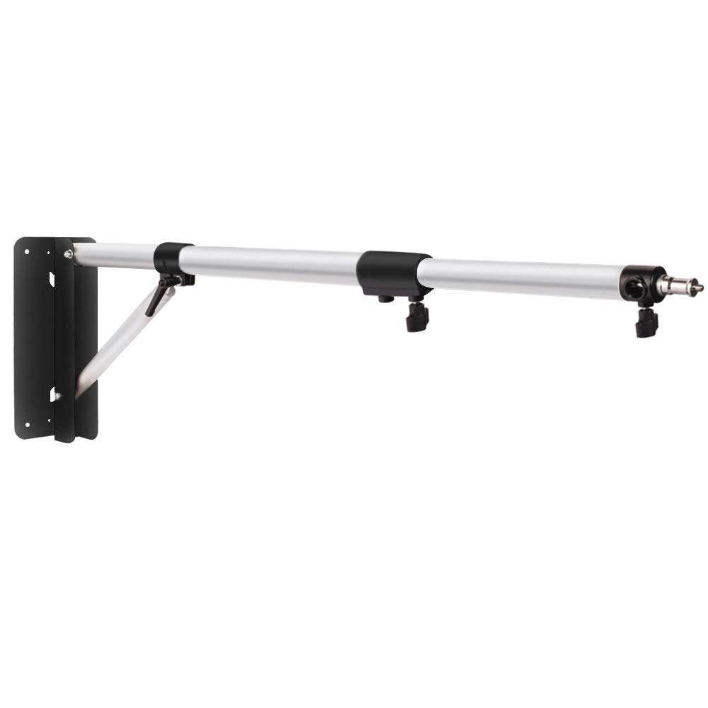 170 Degree Up and Down Max Length 54 inches // 137cm Fotoconic Wall Mount Light Stand Boom Arm for Photography Studio Video Strobe Flash Lighting 160/° Left and Right