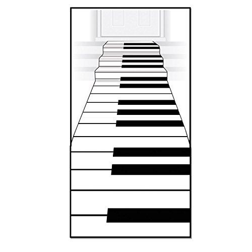 Beistle Piano Keyboard Runner, 24-Inch by 10-Feet, White/Black ()
