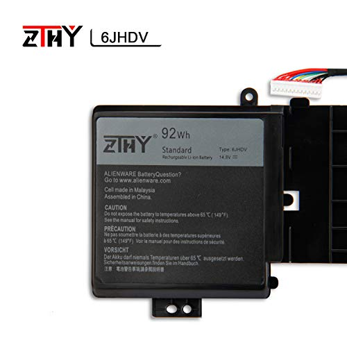 ZTHY 6JHDV Laptop Battery for Dell Alienware 17 R2 R3 5046J P43F