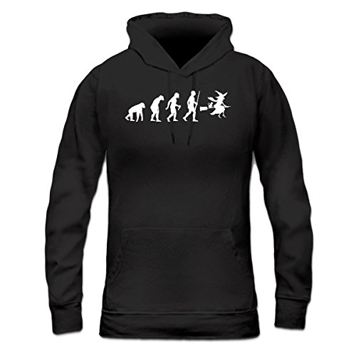 Sudadera con capucha de mujer Witch Evolution by Shirtcity Negro