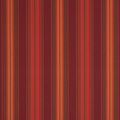 (Sunbrella Shade Stripes - Sample Swatches (Saxon Chili) )