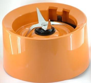 Base de jarra con cuchillas para batidoras KitchenAid color naranja mandarina (modelos KSB555, KSB565, etc).: Amazon.es: Hogar