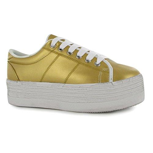 Jeffrey Campbell Sapatos Plataforma Jogo Ouro / Tênis Calçado Desportivo De Moda De Mulheres Brancas