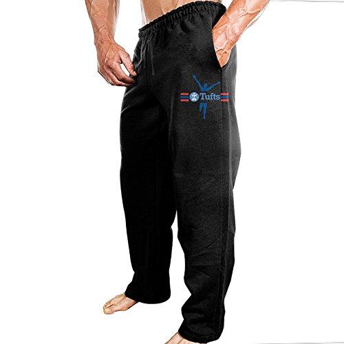 Price comparison product image TONGY Men Tufts University TU Mark Comfortable Visor Vintage Sweatpants Leisure Wear Size M Black