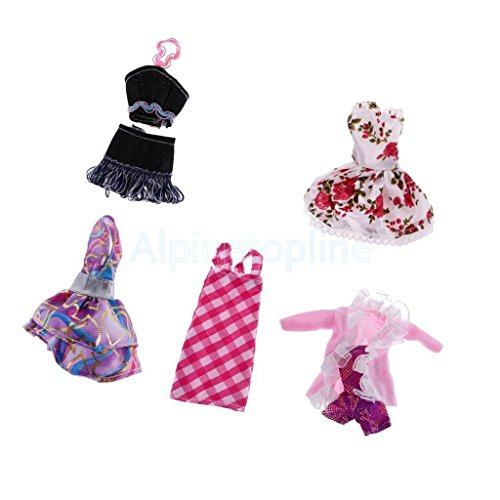 5 Set Fashion Party/Casual Clothes Outfit Dress Coat for Monster High Dolls by alpinetopline