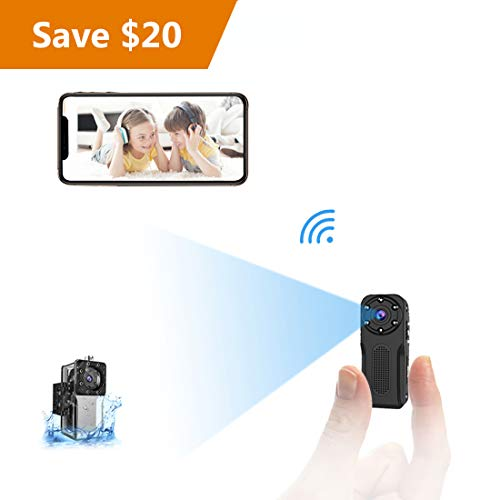 WiFi Waterproof Mini Spy HiddenCamera, NIYPS HD 1080P Covert Security Video Camera, WirelessNanny Cam with Night Vision and Motion Detection, Portable Small Surveillance Camera for Indoor/Outdoor (Camera Security Spy Cam Wireless)