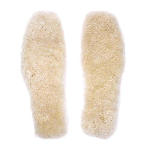APELPES Cut-to-fit Wool Insoles, Cozy & Fluffy Premium Sheepskin Insoles Fleece Inserts (Cream, Women's 5-10)