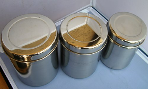 Stainless Steel Tea Tin Canister Container Set Of 3 Buy