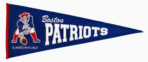 Winning Streak NFL New England/Boston Patriots Throwback Pennant -