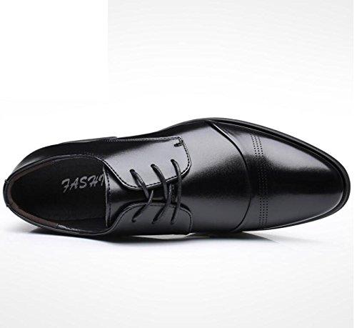 Pelle Punta Scarpe Bassa Banchetto Uomo Scarpe Antiscivolo Scarpe in Koyi Business Resistenti Fashion da Scarpette A all'Usura con Black da 0nxRq76f