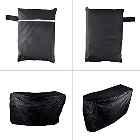 Amazon.com : ABYSTEPS Covers - Black Waterproof BBQ Grill Barbeque Cover Outdoor Rain Grill Barbacoa Anti Dust Protector for Gas Charcoal Electric Barbecue ...