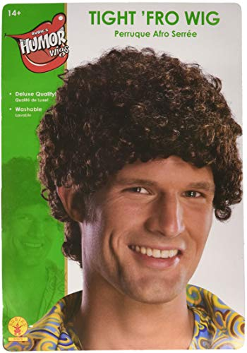 Rubie's Tight Fro Wig, Brown, One -
