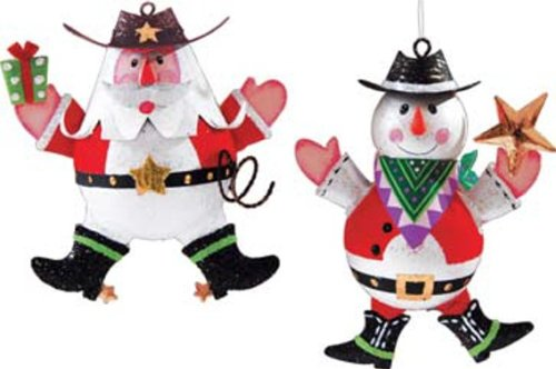 GALLERIE II Holiday Western Cowboy,Assorted 2,Santa,Snowman