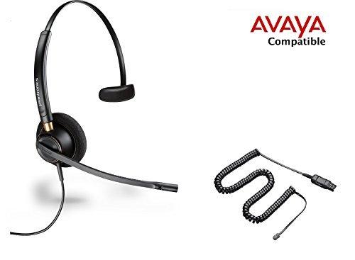 Avaya Compatible Plantronics HW510 EncorePro 510 VoIP Noise Canceling Headsets 1408 1416 2410 2420 4606 4610 4612 4620 4621 4622 4624 4625 4630 5410 5420 5610 5620 5621 5625 9404 9406 9408 9504 9508