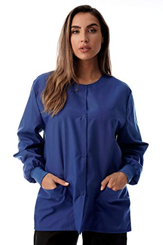 Just Love Womens Solid Medical Scrub Jacket,Royal Blue,X-Large