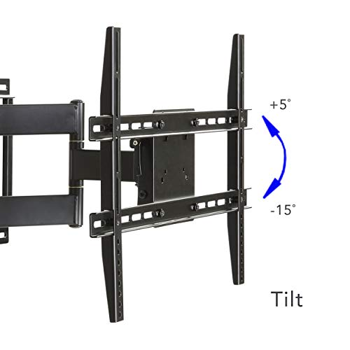 large full motion articulating mount for 37 inch to 84 inch flat screen tv in blackhe shed. Black Bedroom Furniture Sets. Home Design Ideas