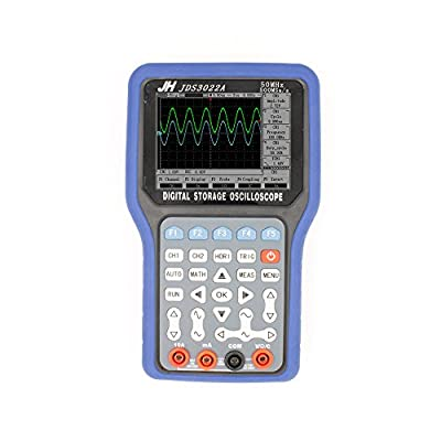 Jinhan Jds3022a Series Handheld Digital Storage Oscilloscope and Digital Multimeter, 30mhz, Double Channel,250ms/s Sample Rate