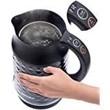 Secura Cool Touch Precise Temperature Control Stainless Steel 1.8Qt (7 Cups) Electric Water Kettle (Black) | 1500W Strix Controls | Float Valve Technology | Quick Boil | 8 Pre-sets (Black)