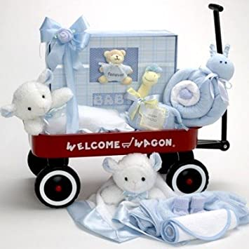 4d7f7464f2a5 Amazon.com   Welcome Wagon Baby Gift for Newborn Boys Featuring the ...