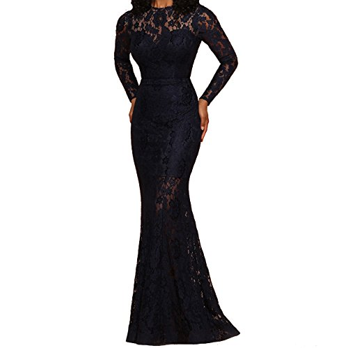 Gowns Pageant Celebrity Homecoming Mermaid Dress Lace Navy Quinceanera Blue Caterinasara WwInFxSqw
