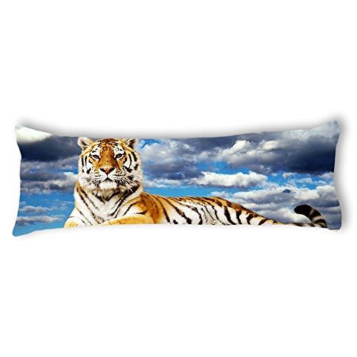 AILOVYO Tiger Silky Soft Satin Pregnancy Body Pillow Cover Pillowcase, 20